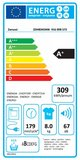 Zanussi ZDH8345NW warmtepompdroger
