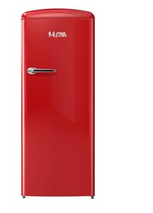 ETNA KVV754ROO is een rode koelkast met vriesvak