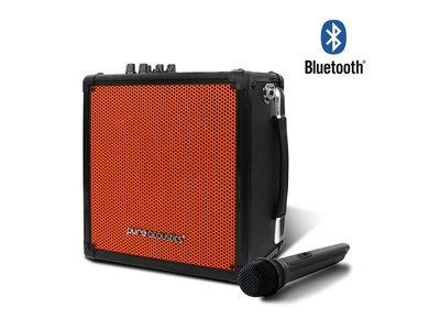 Pure Acoustics MCP 50 draadloos karaoke systeem met bluetooth zwart oranje