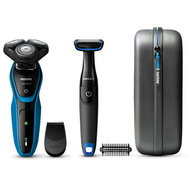 Philips set S5050/64 en de BG1024 Philips Body groomer inclusief reisetui